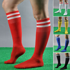 7Colors Stripe Knee High Tube Socks Sport Soccer Football Running Calf Podium