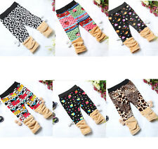 NWT Baby Girls Boys Lovely Warm All Matched Cartoon Leggings Pants 6M-4Y