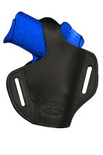 NEW Barsony Black Leather Pancake Holster Smith&Wesson Small 380 UltraComp 9mm40