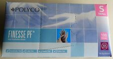 GLOVES: POLYCO Finesse PF Small Blue Vinyl Disposable Gloves, Box of 100