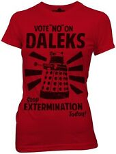 Doctor Who Vote No On Daleks Heathered Red Women's T-Shirt