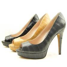 "$360 Pour La Victoire ""Angelie"" Eel Peep Toe Platform Pumps, Women's Shoes"