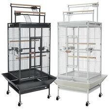 Parrot Bird Finch Cage Cockatiel Parakeet Ladder Iron House Pet Supply Free Toy