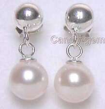 SALE AAA 6-7mm 100% Natural Round Pearl Stud/Dangle Earring silver S925 Stud-311