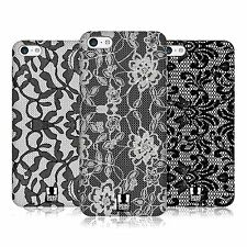 HEAD CASE DESIGNS BLACK LACE PROTECTIVE HARD BACK CASE COVER FOR APPLE iPHONE 5C
