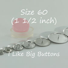 Size 60 (1 1/2 inch / 38 mm) Cover Button/Covered Buttons CHOOSE Back, Quantity
