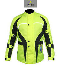 Hi-Vis Cordura Waterproof Breathable Quilted Armour Motorcycle Motorbike Jacket
