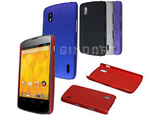 Rubberized Hard Plastic Protector Phone Cover Case For LG Google Nexus 4 E960