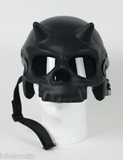 Novelty Half Skull W/Horns Motorcycle Helmet