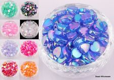 200pcs Heart Shape Acrylic  AB color Spacer Beads 8x4mm
