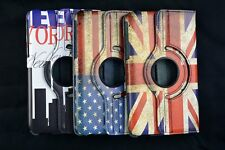 Retro 360 rotating flip leather case cover Fr Samsung Galaxy Tab 3 7.0 Note 10.1