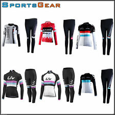 Sports Riding Bicycle Bike Cycling Men Clothing Long Sleeve Jersey Long Pant Set