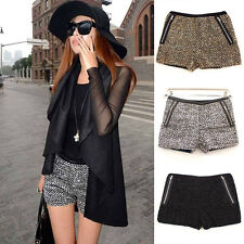 Glittering Metallic Sequined Stretch Hot Shorts Bling Dancer Mini Short Pants