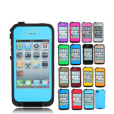 Choose Color Waterproof Shockproof Dirt Proof Durable Case Cover For iPhone 4 4S