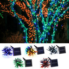 100 LED Solar Fairy String Light Xmas Party Garden Lawn Waterproof Decor Lamp