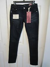 ALMOST FAMOUS BLUE DISTRESSED SKINNY JEANS DIFFERENT SIZES TO CHOOSE FROM