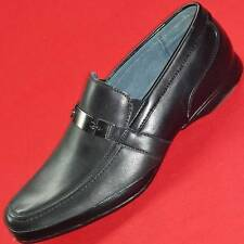 NEW Men's MARC ANTHONY DERRICK Black Leather Loafers Slip On Casual/Dress Shoe