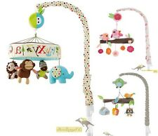 New Baby Nursery Owl Monkey Bird Animal Alphabet Jungle Play Musical Cot Mobile