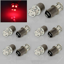 10x Red 1157 BAY15D Dual 8 5050 SMD LED Brake Tail Turn Signal Light Bulb Lamp