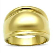 GL010PB WOMENS  BOLD DOME  ION IP PVD  RING LASTING 18KT GOLD PLATED 2013 DESIGN