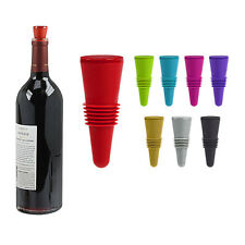 Flex-Seal Rubber Wine Bottle Stoppers - Choose from 8 Cool Colors
