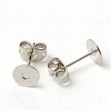 100pcs Silver plated Jewelry Findings earring Post With Backs Stoppers findings
