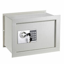 15x11x10 Wall/Inground Flat Safe Digital Lock Keypad Home Security Gun Cash Box