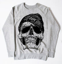 NEW DOPE SKULL JUMPER SWEATSHIRT MEN GEORDIE SHORE SWAG HIPSTER TOP OBEY UNISEX