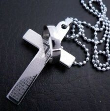 Cool2day Jewellery Men Women's Ring Cross Stainless Steel Pendant Necklace Chain