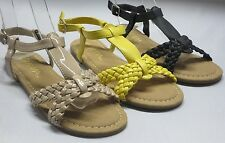 Girl Strapy Sandals (kiwi) Youth Black Beige Yellow