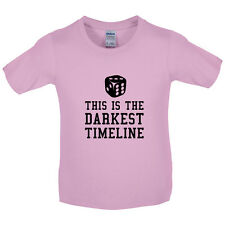This Is The Darkest Timeline - Kids / Childrens T-Shirt - 8 Colours -FREE UK P&P