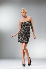 Homecoming Strapless Mini Dress Lace Form Fit Short Cocktail Prom Event Evening