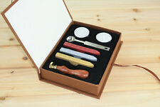 Top Custom Initial Alphabet Stamp Seal Sealing Wax Letters Invitation Box Case