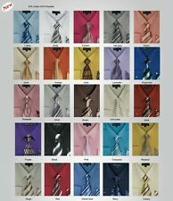 Men's Dress Shirt with Tie and Handkerchief set in lots colors *SG21A