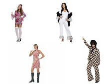 Fancy Dress Costumes - Adult Retro Outfits 70s Disco Dance Groovy ABBA - Hippy