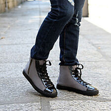 British Style Mens Ankle Boots Zip Design Lace-up Shoes Casual Sneakers XMX022