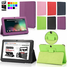 "Folio PU Leather Case Stand Cover for 7"" iRulu A13/A23/A33 Vuru Android Tablet"