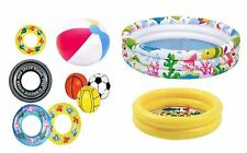 New Summer Inflatable Paddling Pool Swim Rubber Ring Tyre Beach Tube & Ball