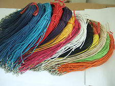 """20pcs Waxed Cotton Pendant Necklace Cord 18""""/1.5mm with Clasp Extend Chain"""