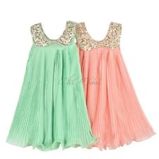Girl Dresses Summer 2014 Pleated Chiffon One-Piece Dress With Lace Collar Child