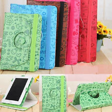 "Cartoon 9.7"" inch 360°Rotating Folio Leather Case Cover Stand for Tablet Android"