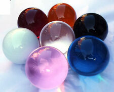 Large Glass / Crystal Ball Sphere 100mm - Various Colours - Table Centrepiece