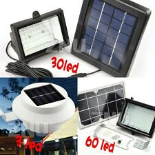 Ultra Bright Solar 3/30/60 LED Outdoor Fence Gutter/Spot Flood Light Lawn Lamp
