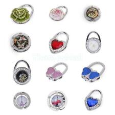 Rhinestones Decoration Folding Handbag Hanger Purse Tote Bag Holder Table Hook