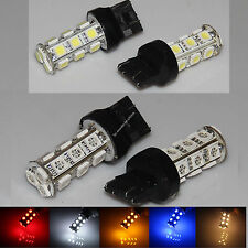 T20 18 SMD 5050 LED 7443 Car Brake Tail Turn Signal Light Blub White Red Amber