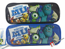 Disney Monster University Mike Sully Pencil Box Case Pouch Bag New Black / Blue
