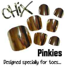 CHIX Nail Wraps NEW PINKIES Gold Mirror Shiny JUST 4 TOES Foils Nails Salon