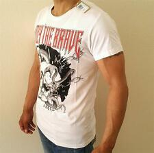 NEW MENS DIESEL AUTHENTIC TEE COOL GRAPHICS  WHITE