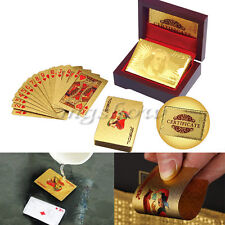 Gold Golden Foil Plated 24K Gift Playing Cards Game Poker Deck Collection
