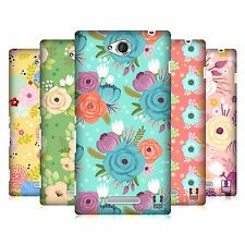 HEAD CASE DESIGNS WHIMSICAL FLOWERS CASE COVER FOR SONY XPERIA C C2305